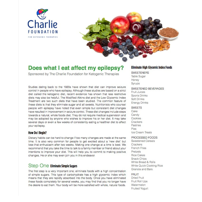 Does what I eat affect my epliepsy
